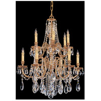 Crystorama 2712-OB-CL-MWP Novella 12 Light 26 inch Olde Brass Chandelier Ceiling Light in Hand Cut