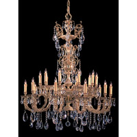 Crystorama Kensington 20 Light Chandelier in Olde Brass with Swarovski Spectra Crystals 2715-OB-CL-SAQ
