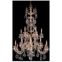 Crystorama Novella 18 Light Chandelier in Olde Brass, Swarovski Spectra 2718-OB-CL-SAQ