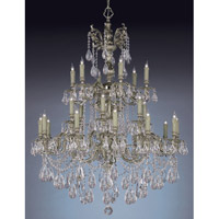 Crystorama Oxford 24 Light Chandelier in Olde Brass with Hand Cut Crystals 2724-OB-CL-MWP