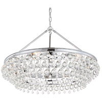Calypso 6 Light 30 inch Polished Chrome Chandelier Ceiling Light in Polished Chrome (CH)