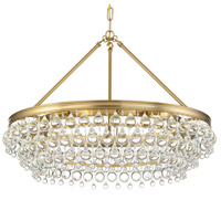 Crystorama 275-VG Calypso 6 Light 30 inch Vibrant Gold Chandelier Ceiling Light
