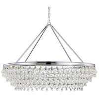 Crystorama 278-CH Calypso 8 Light 40 inch Polished Chrome Chandelier Ceiling Light in Polished Chrome (CH)