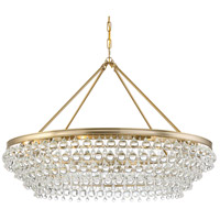 Crystorama 278-VG Calypso 8 Light 40 inch Vibrant Gold Chandelier Ceiling Light