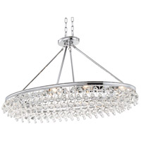 Crystorama 279-CH Calypso 8 Light 18 inch Polished Chrome Chandelier Ceiling Light in Polished Chrome (CH)