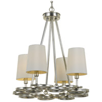 Crystorama Libby Langdon Graham 4 Light Chandelier in Antique Silver 284-SA