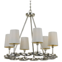 Crystorama 286-SA Graham 6 Light 23 inch Antique Silver Chandelier Ceiling Light