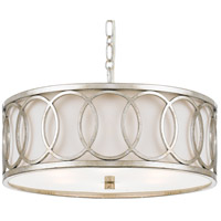 Crystorama 287-SA Graham 6 Light 19 inch Antique Silver Chandelier Ceiling Light