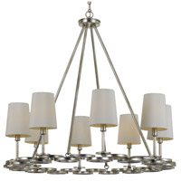 Graham 8 Light 30 inch Antique Silver Chandelier Ceiling Light
