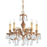 Crystorama Novella 5 Light Mini Chandelier in Olde Brass 2905-OB-CL-SAQ