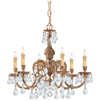 Crystorama 2906-OB-CL-MWP Novella 6 Light 25 inch Olde Brass Chandelier Ceiling Light in Hand Cut
