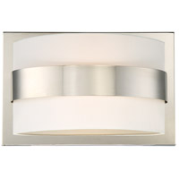 Grayson 2 Light 15 inch Polished Nickel Wall Sconce Wall Light in Polished Nickel (PN), White Silk
