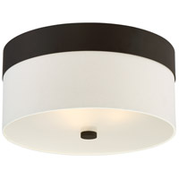 Grayson 3 Light 16 inch Dark Bronze Flush Mount Ceiling Light in Dark Bronze (DB), Cream Linen