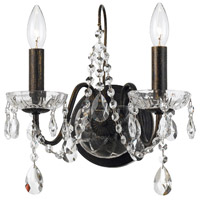 Crystorama English Bronze Crystal Wall Sconces