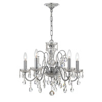 Crystorama 3025-CH Traditional Crystal 5 Light 23 inch Polished Chrome Chandelier Ceiling Light in Polished Chrome (CH)