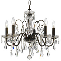 Crystorama 3025-EB-CL-MWP Butler 5 Light 23 inch English Bronze Chandelier Ceiling Light