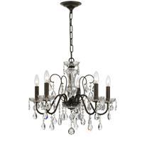 Crystorama 3025-EB-CL-SAQ Butler 5 Light 23 inch English Bronze Chandelier Ceiling Light