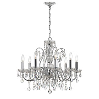 Crystorama 3028-CH Traditional Crystal 8 Light 26 inch Polished Chrome Chandelier Ceiling Light in Polished Chrome (CH)