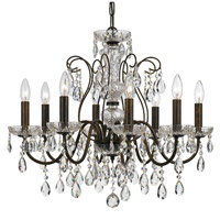 Crystorama 3028-EB-CL-MWP Butler 8 Light 26 inch English Bronze Chandelier Ceiling Light