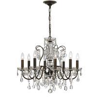 Crystorama 3028-EB-CL-SAQ Butler 8 Light 26 inch English Bronze Chandelier Ceiling Light