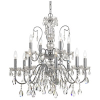Crystorama 3029-CH-CL-MWP Butler 12 Light 29 inch Polished Chrome Chandelier Ceiling Light in Chrome (CH)