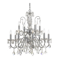 Traditional Crystal 12 Light 29 inch Polished Chrome Chandelier Ceiling Light in Polished Chrome (CH)