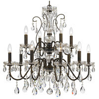 Crystorama 3029-EB-CL-MWP Butler 12 Light 29 inch English Bronze Chandelier Ceiling Light