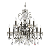 Traditional Crystal 12 Light 29 inch English Bronze Chandelier Ceiling Light in English Bronze (EB)