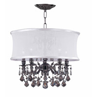Crystorama Gramercy 5 Light Chandelier in Pewter 30306-PW