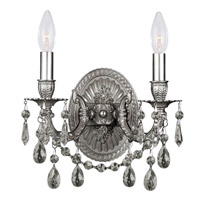 Crystorama Gramercy 2 Light Wall Sconce in Pewter 30312-PW