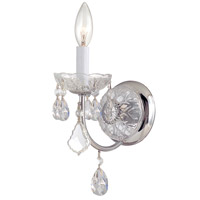 Crystorama Imperial 1 Light Wall Sconce in Polished Chrome with Hand Polished Crystals 3221-CH-CL-MWP