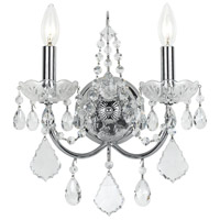 Crystorama 3222-CH-CL-S Imperial 2 Light 12 inch Polished Chrome Wall Sconce Wall Light in Clear Swarovski Strass