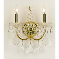 Crystorama Imperial 2 Light Wall Sconce in Gold, Hand Cut 3222-GD-CL-MWP