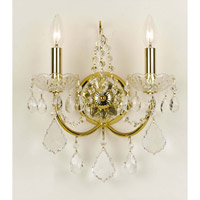 Crystorama Imperial 2 Light Wall Sconce in Gold 3222-GD-CL-SAQ photo thumbnail