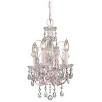 Crystorama 3224-BH-CL-MWP Imperial 4 Light 12 inch Blush Mini Chandelier Ceiling Light in Blush (BH), Clear Hand Cut