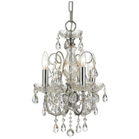 Crystorama 3224-CH-CL-SAQ Imperial 4 Light 12 inch Polished Chrome Mini Chandelier Ceiling Light in Swarovski Spectra (SAQ) Polished Chrome (CH)