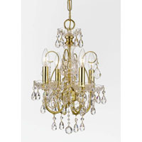 Crystorama Imperial Collection 4 Light Mini Chandelier in Gold 3224-GD-CL-MWP photo thumbnail