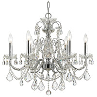 Crystorama Imperial 6 Light Chandelier in Polished Chrome, Hand Cut 3226-CH-CL-MWP
