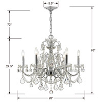 Crystorama 3226-CH-CL-MWP Imperial 6 Light 26 inch Polished Chrome Chandelier Ceiling Light in Clear Hand Cut alternative photo thumbnail
