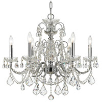 Crystorama 3226-CH-CL-SAQ Imperial 6 Light 26 inch Polished Chrome Chandelier Ceiling Light in Swarovski Spectra (SAQ)