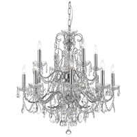 Crystorama Imperial 12 Light Chandelier in Polished Chrome, Italian Crystals 3228-CH-CL-I