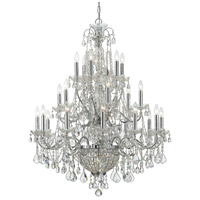 Crystorama 3229-CH-CL-MWP Imperial 26 Light 37 inch Polished Chrome Chandelier Ceiling Light in Hand Cut, Polished Chrome (CH) photo thumbnail