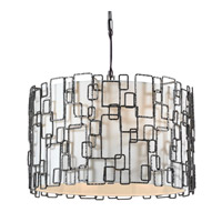 Crystorama Lattice 6 Light Chandelier in Raw Steel 326-RS
