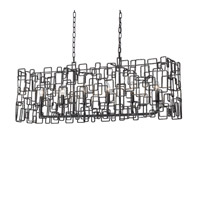 Lattice 6 Light 10 inch Raw Steel Chandelier Ceiling Light