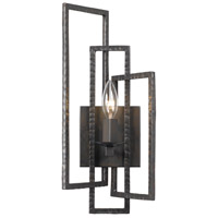 Crystorama Capri 1 Light Wall Sconce in Raw Steel 331-RS