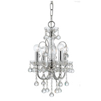 Crystorama 3324-CH-CL-MWP Imperial 4 Light 12 inch Polished Chrome Mini Chandelier Ceiling Light