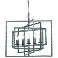 Crystorama Capri 5 Light Chandelier in Gray 336-GY