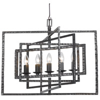 Crystorama 336-RS Capri 5 Light 24 inch Raw Steel Chandelier Ceiling Light