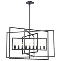 Capri 9 Light 39 inch Raw Steel Chandelier Ceiling Light
