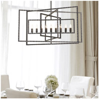 Crystorama 337-RS Capri 9 Light 39 inch Raw Steel Chandelier Ceiling Light alternative photo thumbnail